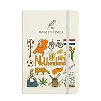 オランダの風景の動物の国旗 ノートブッククラシックジャーナル日記A 5を書く