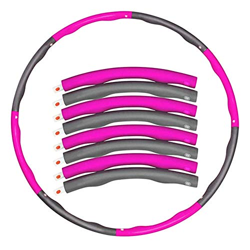 ADAGG Fhogan - Anillo de ejercicio para fitness, yoga, círculo de fitness desmontable, para pérdida de peso de la cintura, anillo ejercicio de pérdida de peso, anillo de yoga desmontable con cintura