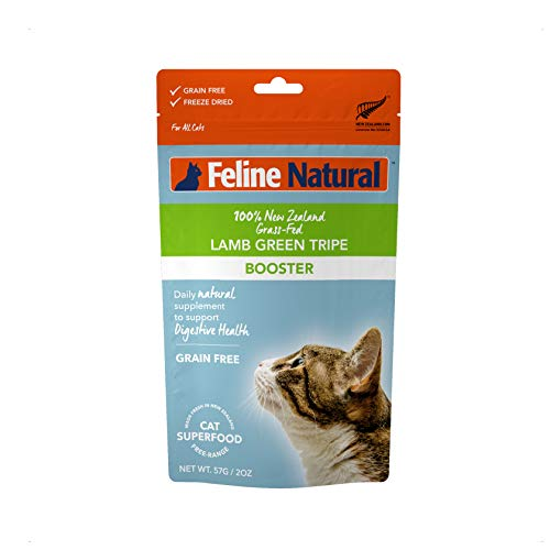 Feline Natural Grain-Free Freeze Dried Cat Food Supplement, Lamb Green Tripe 2oz