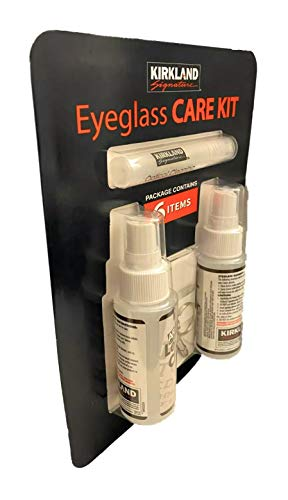 Eyeglass Care KIT 6 Pack Screwdriver Keychain/Microfiber Cloth/Lens Solution by Kirkland Signature
