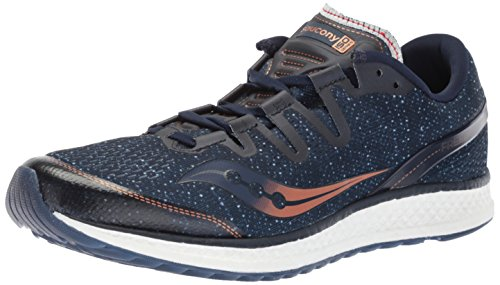 Saucony Men's Freedom ISO Running Shoe, navy/denim, 9 Medium US