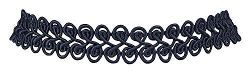 Spitzen Kropfband - Basisband Halskette - Dunkelblau