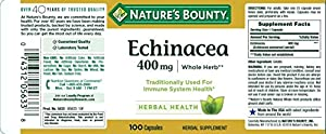 Echinacea by Nature's Bounty, 400mg Echinacea Capsules for Immune Support, 100 Capsules #2
