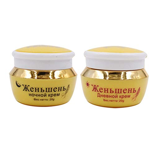 Symeas Crème éclaircissante pour le visage au ginseng Hydratant Eclaircir Blemish Anti-âge Soins anti-rides Taches Traitement Crème Crème de jour/Crème de nuit/Crème aux perles