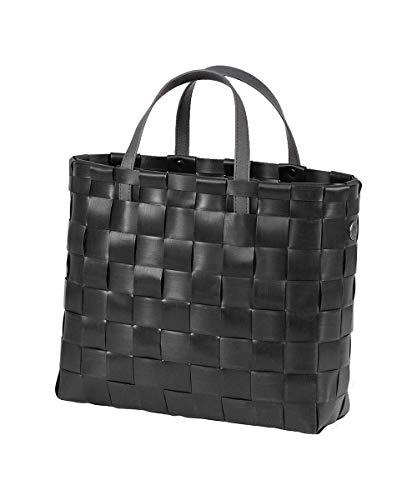 Handed By - Shopper - Flechttasche - Flechtkorb - Kunststoff - schwarz - XS