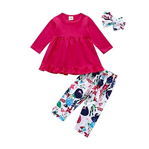BHYDRY NiñIto Bebé Chico Chica Manga Larga Coche Impresión Tops + Pantalones Pijamas Sleepwear Conjunto