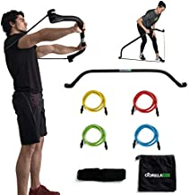 Gorilla Bow Portable Gym Equipment Set - Home Gym Resistance Training Kit - Full Body Workouts - Adjustable Bands - Kickstarter Funded (Original Black)