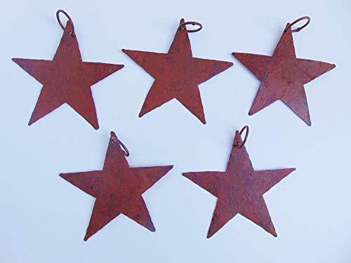 Edelrost Stern mit Öse, 5 Stück im Set, Roststern, Weihnachten