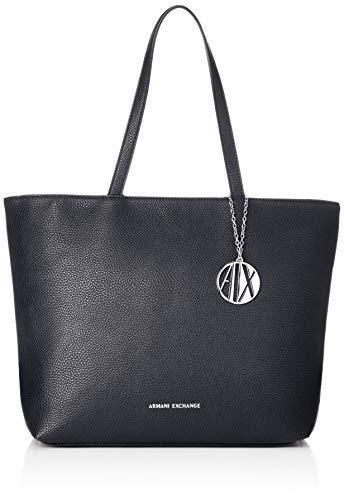 Armani Exchange Womans Shopping, Cabas femme, Bleu...