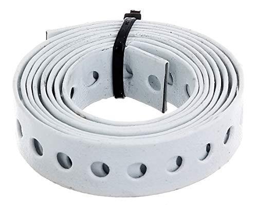 GAH-Alberts 334253 Lochband   mit oder ohne Abrollkasette   weiß kunststoffbeschichtet   Breite 17 mm   Länge 1,5 m
