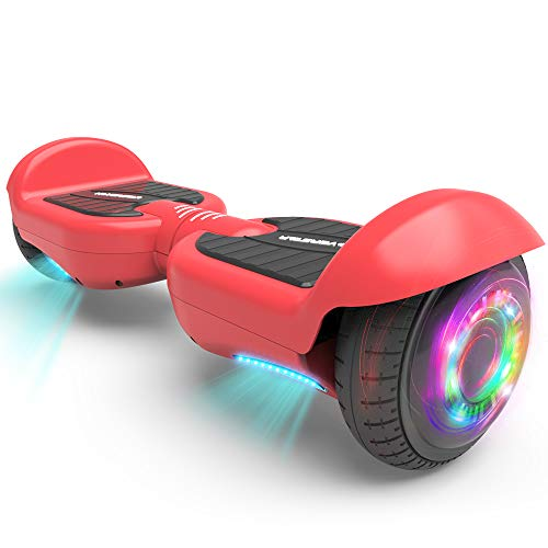 HOVERSTAR All-New HS2.0 Hoverboard 6.5' Two-Wheel Self Balancing Flash Wheel Electric Scooter (Red)