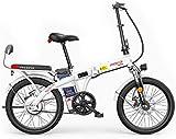 Alta velocidad Bicicletas plegables eléctricos for adultos, 3 modos de funcionamiento: Velocidad máxima 25 kilometros / h, 48V de iones de litio, la carga máxima 150kg, respetuoso del medio ambiente E