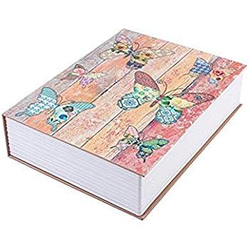 Etase Diccionario Caja de Seguridad Caja de lmacenamiento Mariposa Libro Secreto Seguridad Cerradura de Seguridad para Joyas Objetos de Valor Clave: Amazon.es: Hogar
