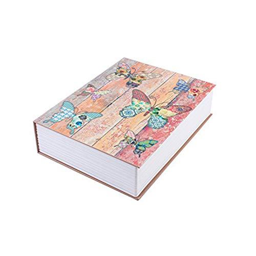 Jeromeki Diccionario Caja de Seguridad Caja de Almacenamiento Mariposa Libro Secreto Seguridad Cerradura de Seguridad para Joyas Objetos de Valor Clave