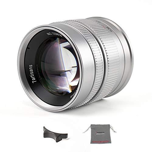 7artisans - Obiettivo fisso manuale APS-C, 55 mm F1.4, per fotocamere Sony E-mount come Sony NEX-6R NEX-7 A3000 A5000 A5100 A6000 A6300 A6500 (argento)