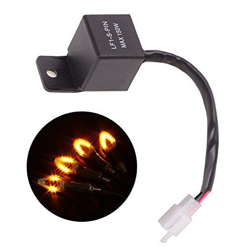 Evermotor Relé de intermitencia electrónico LED universal de 2 pines Lámparas de intermitentes para motocicletas FIX Hyper Flash