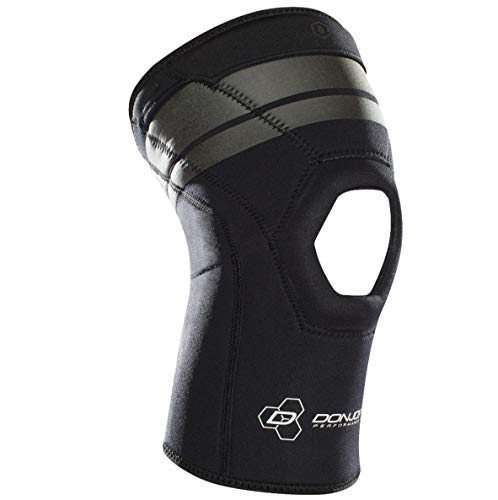 DonJoy Performance ANAFORM Compression Sleeve – Mild/Moderate Knee Cap Support for Strains, Soreness, Tendonitis, Patella Support/Stability, Black, Small