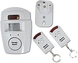 Tech Traders Alarme sans Fil d/étecteur de Mouvement PIR Plus 2/t/él/écommandes Abri Garage Caravane Blanc Lot de 2