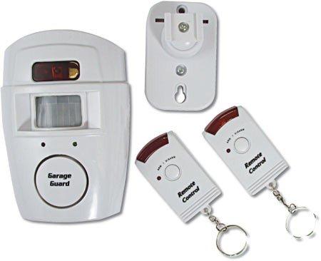 Guilty Gadgets ® - Alarma inalámbrica con sensor de movimiento y dos mandos a distancia(ideal para caravanas, garajes, casa, cabañas, etc.)