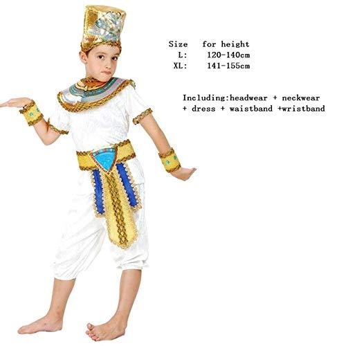 WSJDE Nios Nio Nia Antiguo Egipto Faran Egipcio Prncipe Princesa Disfraz Nios Cosplay Ropa Grecia Purim Halloween L Prncipe 2