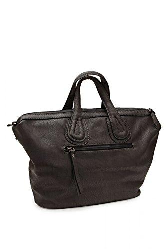 Maestro Damen Tasche Handtasche, Farbe: Dunkelgrau, Größe: One Size