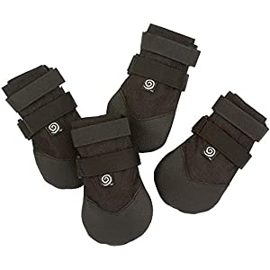 Ultra Paws Durable Heavy Duty Water Resistant Tough Nylon with Thick Soles for Small, Medium and Large Dogs