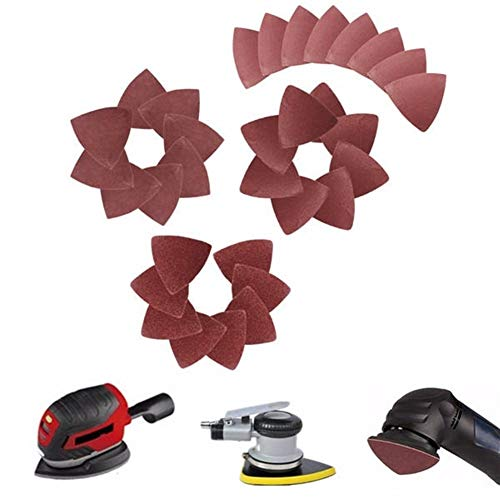Fantastic Deal! Oscillating Tools 32pcs S60/120/180/240 Grit heets Disc Triangle Sandpaper 80mm Sand...