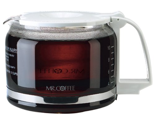 Mr. Coffee PD12-1 10-12 Cup Replacement Decanter for AD, AR, BL, PR, MP, UTC403, GBX12, White