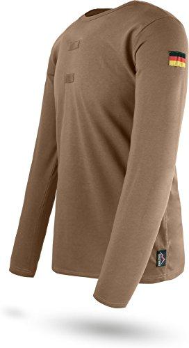 normani BW Tropen Langarmshirt mit Nationalitätsabzeichen Deutschlandfahnen und Klettstreifen Tropenshirt Größe 4/XS