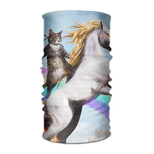 shenhaimojing 16-in-1 Multifunctional Headwear Magic Scarf Cat Unicorn Painting Neck Gaiter Headband Bandana for Motorcycle Running Fishing Hiking Workout Yoga Fitness Cycling Exercise