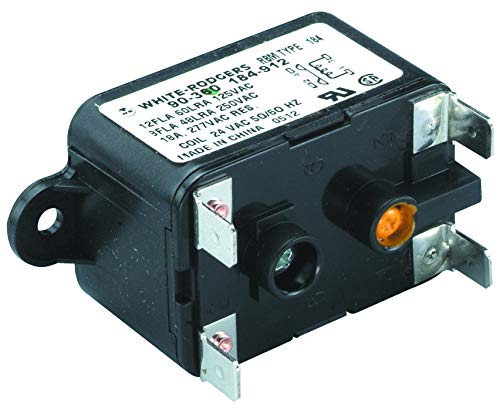 90-360 - Power Relay, SPST-NO, 24 VAC, 18 A, 184 Series, Socket, AC, (Pack of 2) (90-360)