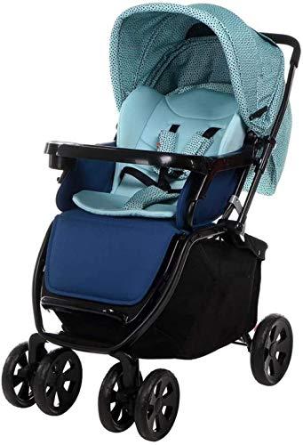 YONGYONGCHONG Wagen Kinderwagen Leichte Kinderwägen, komplett geschlossene Carport frei einstellbar Kinderwagen Dreirad (Color : Light Blue)