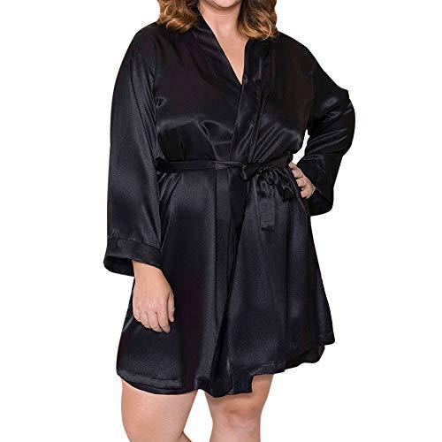 OverDose Damen Dessous Frauen Damen Seide Spitze Super Flauschigen Luxus Saugfähigen Robe Kleid Babydoll Nachthemd Nachthemd Nachtwäsche Bademantel