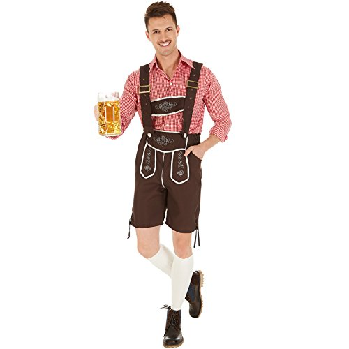 dressforfun Herrenkostüm Trachten Set | Schicke Trachtenhose | Traditionelle Stickereien | Legeres, stylisches Trachtenhemd (M | Nr. 301096)