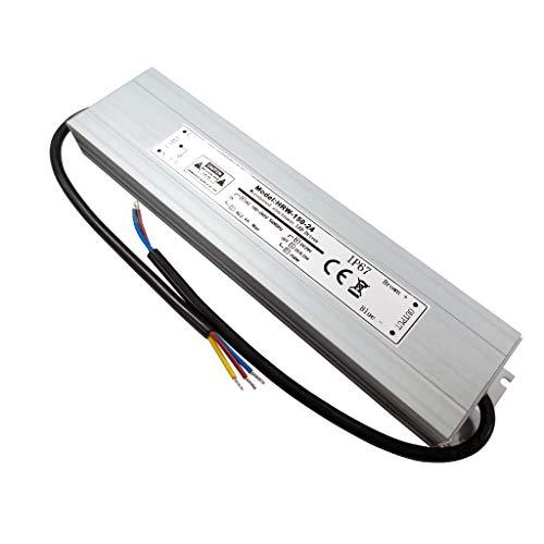 VARICART IP67 24V 6.25A 150W Wasserdichter LED Treiber, Ultra Schmal Universal Reguliertes AC DC Schaltnetzteil, Konstanter Spannungswandler Adapter für CCTV Kamera MR16 GU5.3 Glühbirne(1-er Packung)