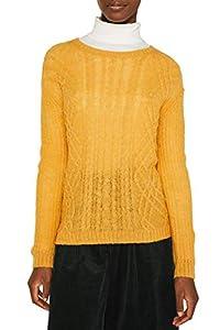 ESPRIT Damen 119EE1I026 Pullover, Gelb (Honey Yellow 710), Medium (Herstellergröße: M)