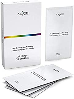 Anjou 32 Strips Blackhead Removing Pore Strips, New Upgraded 2020Version Formula, Deep Cleansing Peel off Strip for Removi...