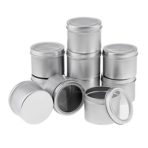 10x100ml Cremedose Leere Dosen Schraubdose aus Aluminium mit Schraub-Deckel, Alu-Dose Döschen Behälter für Kosmetik, Tee Kerzen Aroma und Gewürz