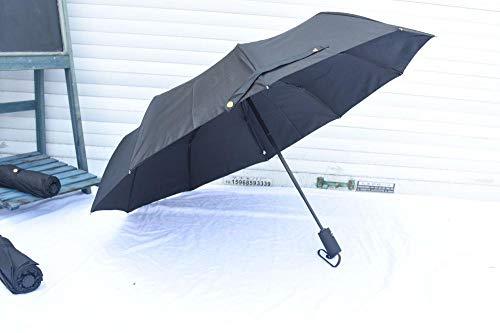 B/H Ligero y Compacto con Paraguas,Paraguas de Negocios, Varillas de Paraguas reforzadas para Hombres y Mujeres en Clima Soleado o lluvioso, Wind-D