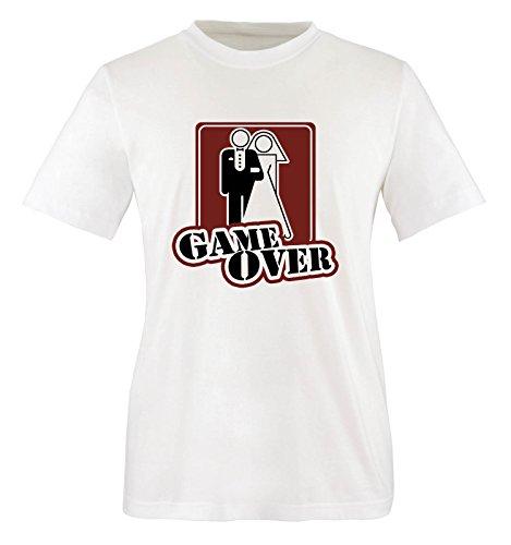M&M-Shirts Hochzeit. t-Shirt Game Over pour Homme Taille s à XXL Blanc Taille XXL