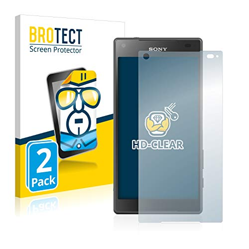 BROTECT Protector Pantalla Compatible con Sony Xperia Z5 Compact Protector Transparente (2 Unidades) Anti-Huellas