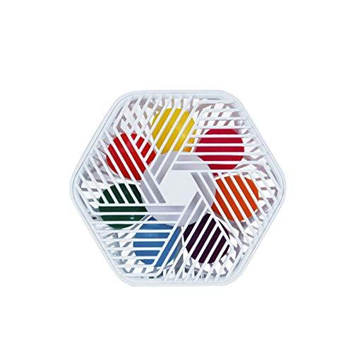 LKJHG Ventilador de escritorio pequeño diseño hexagonal