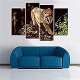 MhY Dekor Gedruckt Bilder Malerei Wandkunst Die Puma Tier