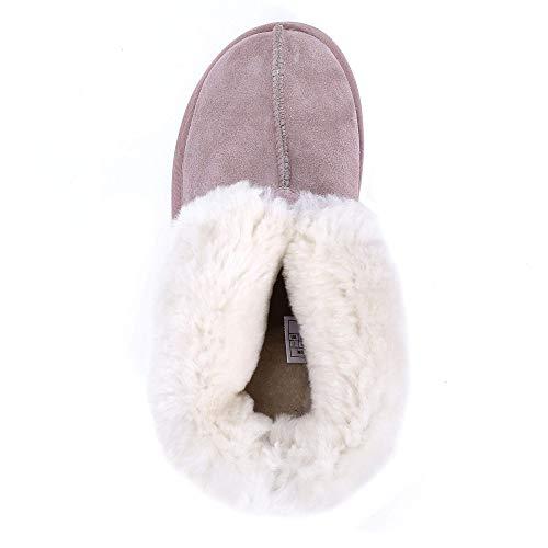 L.A.M.B. Lamb Women Leather Sheepskin Outdoor Slippers,7 US Lavender