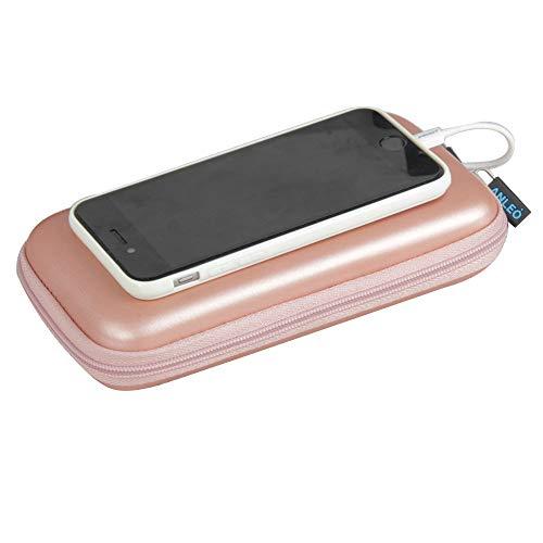 Anleo Hard EVA Travel Case for POWERADD Pilot 4GS 12000mAh / Uni-Yeap 11000mAh External Battery Charger Power Bank Color: Rose Gold