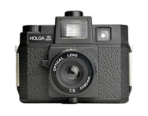 HOLGA 120GCFN Plastic Medium Format Camera with Built-in Flash and Glass Lens, Black (296120)