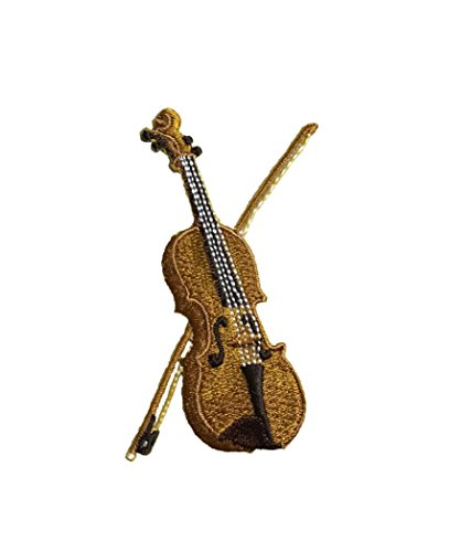 Violin/Fiddle - Musical Instrument - Embroidered Iron on Patch
