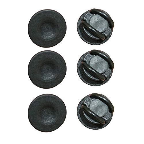 N-D Gpure 4-10pcs Gancho Botones de Mascarillas para Gafas y Diadema Evite Que le Duelan los Oídos Negra Hebilla Redondo de Plastic Accesorios para Enfermeras Doctores Mascarilla Anti-Perdida (6pc)