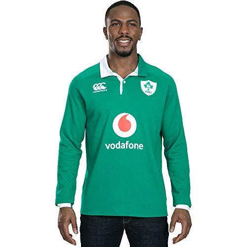 Canterbury of New Zealand Men's Ireland 19/20 Vapodri Home Long Sleeve Classic Rugby Jersey, Bosphorous, Medium