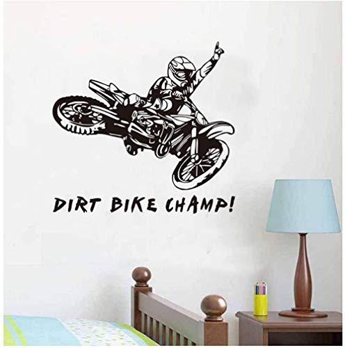 Lustige Zitate Dirt Bike Feld Wandaufkleber Motorradfahrer Kreative Vinylkleber Abnehmbare Motorrad Wandaufkleber 58 cm X 62 cm
